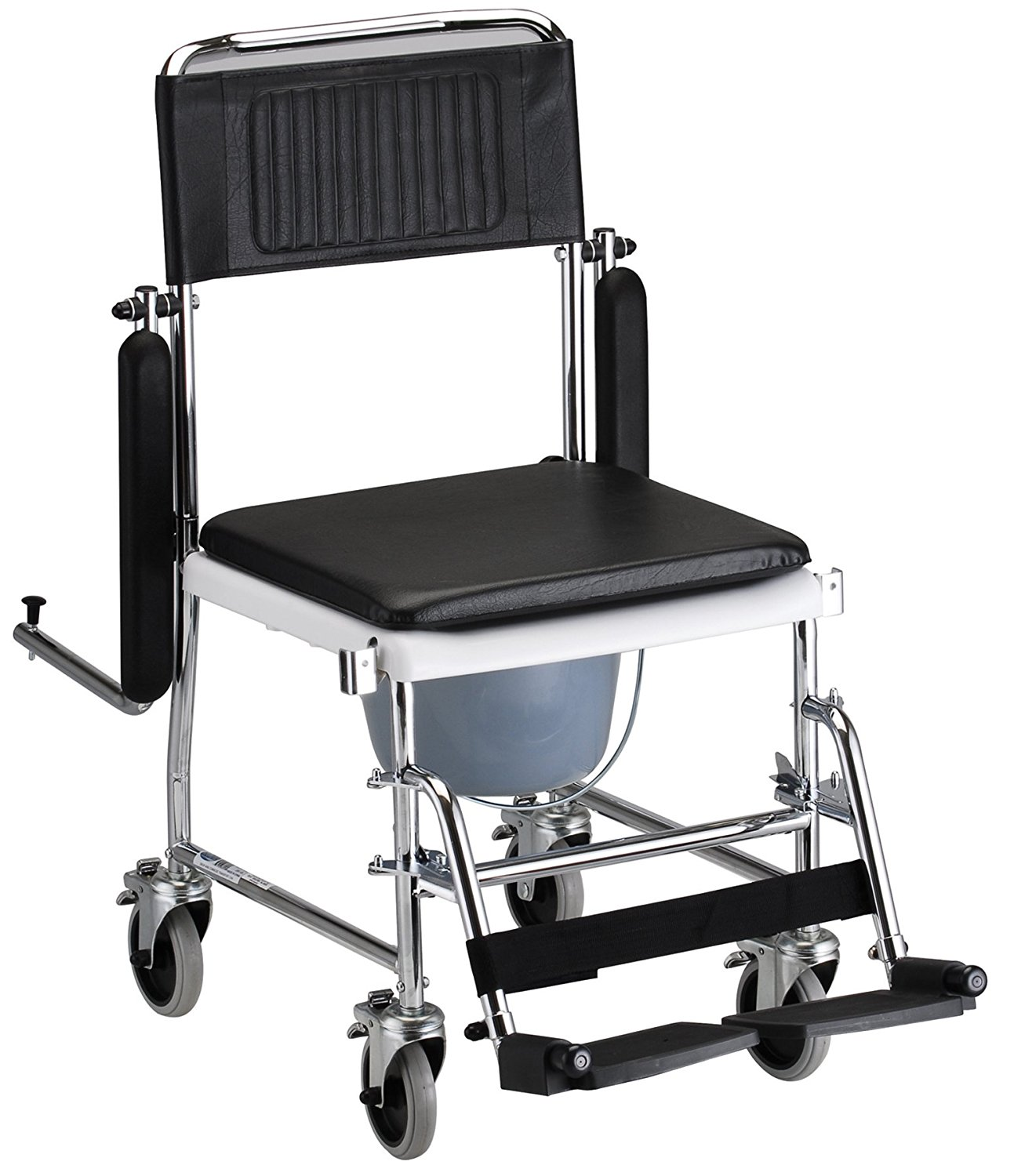 NOVA Medical Products 8805 Drop Arm Transport Chair Commode ...