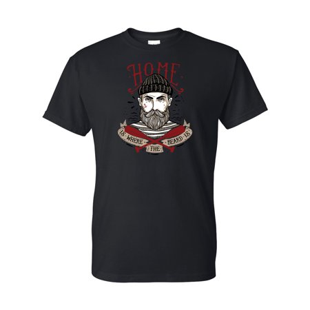 Home is Where the Beard Is Mens Short Sleeve - Irish Beards