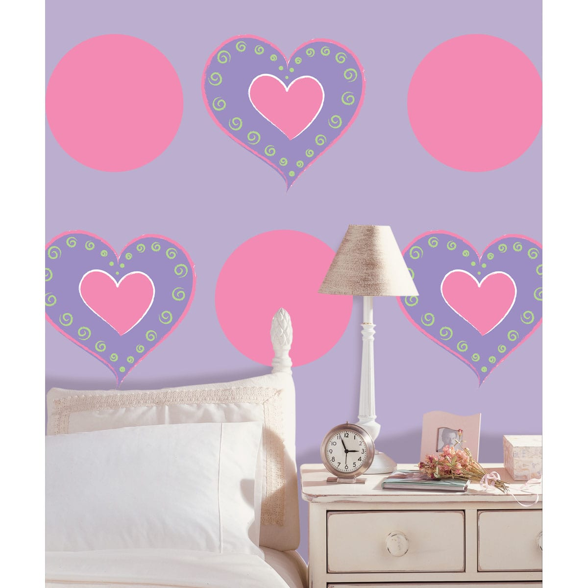 WallPops Wall Pops Purple Heart and Flirt Dot Wall Decals