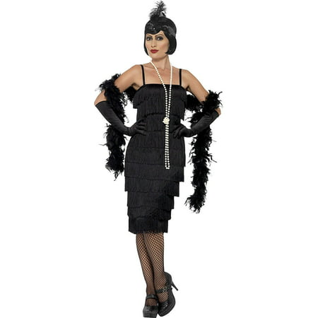 Flapper Adult Costume Black - Plus Size