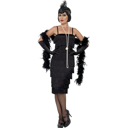 Plus Size Flapper Costume 3x (Flapper Adult Costume Black - Plus Size)