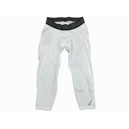 Nike Pro Mens Dri-Fit 3/4 Length Basketball Tight Pants White/White 880825 New (XL)