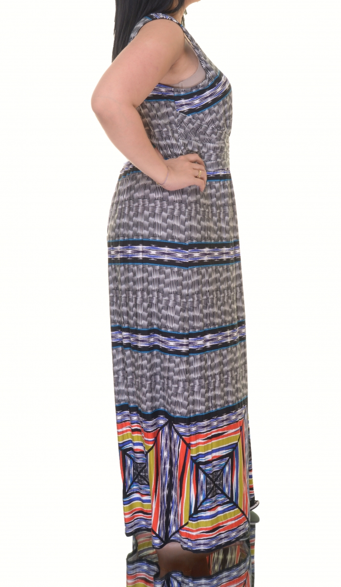 6caee79172c Spense Plus Size Printed Maxi Dress Size 14W - Walmart.com