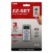 Prime Wire & Cable 3001322 EZ-Set Indoor Digital in Wall Timer, White