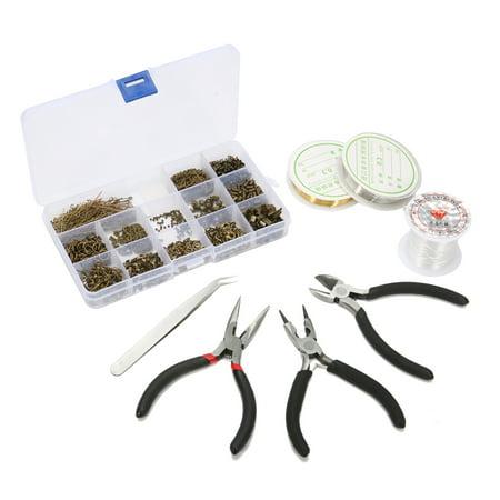 LuckyFine DIY Earings Jewelry Making Supplies Jewelry Making Beading Tool Kit