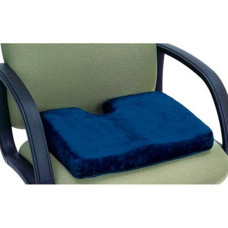 Essential Medical Supply Memory P.F. Sculpture Comfort Seat Cushion with Cut (Cut Cushion Diamond)