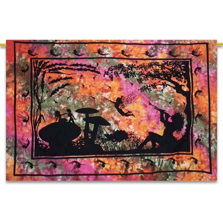 Fairy Tapestry Song Birds Angel Tapestry Wall Hanging Boho Decor Celtic LARGE SIZE