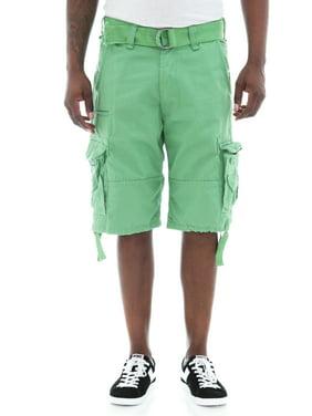 6874e3e9 Product Image Jordan Craig Men's Basic Solid Twill Belted Cargo Shorts