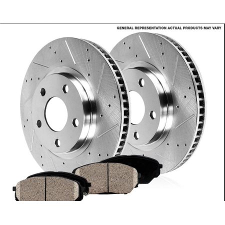 290mm Front Drilled and Slotted Performance Rotors & Ceramic Pads For 2004-2011 MITSUBISHI - Mitsubishi Eclipse Drilled Slotted