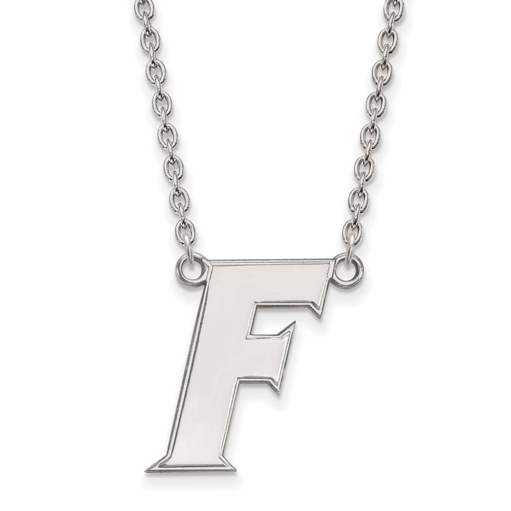 Florida Large (3/4 Inch) Pendant w/ Necklace (Sterling Silver)