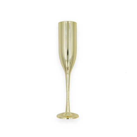 12 Small Gold Champagne Flutes Glass 6