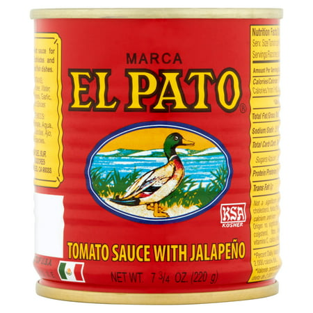 (3 Pack) El Pato The Original Tomato Sauce with Jalapeño, 7 3/4 oz Bolognese Tomato Sauce