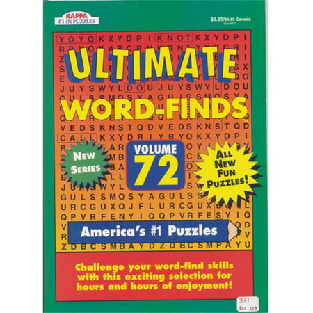 DDI 1301682 Ultimate Word- Finds Puzzle book - full size Case of 80