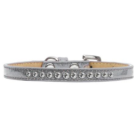 mirage 612-01 sv-8 clear crystal silver puppy ice cream collar - size