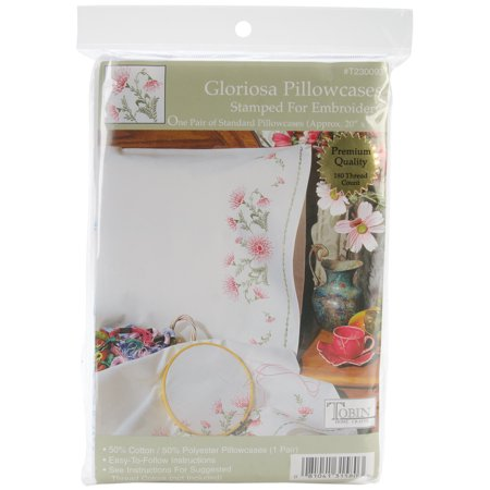 Embroidery Case (Tobin Gloriosa Stamped Pillowcase Pair For Embroidery, 20