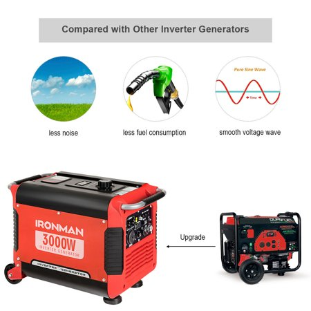 3000W Portable Inverter Gasoline Generator Ultra Quiet 4 Stroke Single Cylinder - image 2 of 10