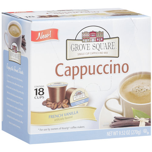 Grove Square Coffee French Vanilla Cappuccino, 9.52 oz