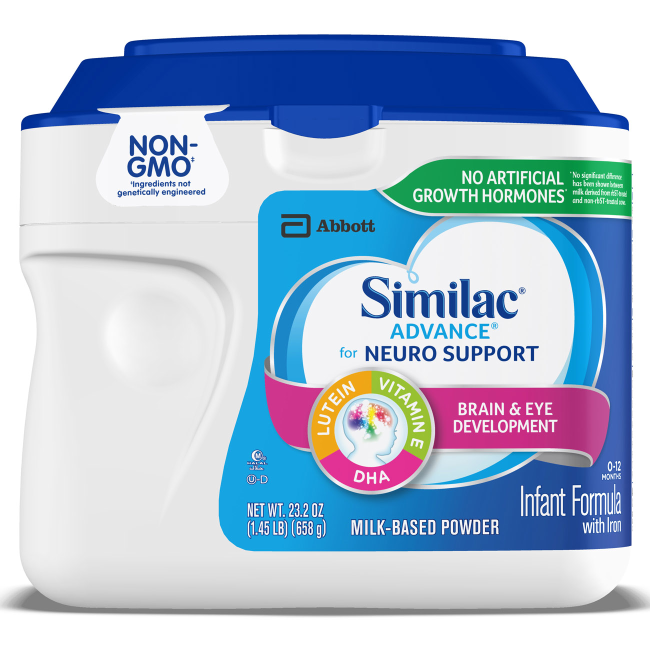 Similac Advance for Neuro Support Infant Formula with Iron Baby Formula 1.45 lb Canisters (Pack of 6) by Similac