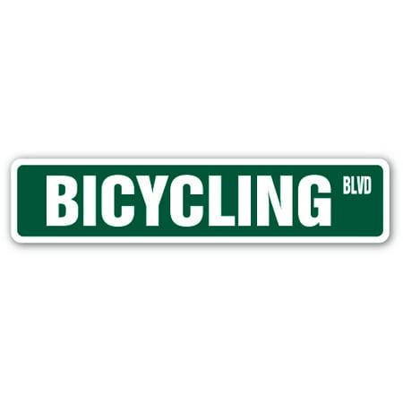 BICYCLING Street Sign bike road biking mountain bike | Indoor/Outdoor | 24
