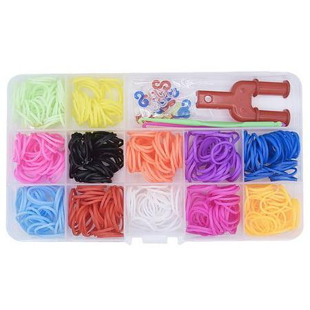 Customizable Rubber Bracelets (KABOER 2019 New Fashion1 Box Color Rubber Band Bracelet Braided Bracelet)