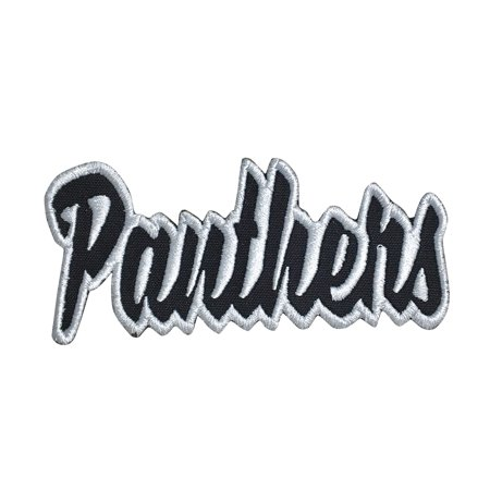 Panthers - Black/White - Team Mascot - Words/Names - Iron on Applique/Embroidered - Panther Mascot