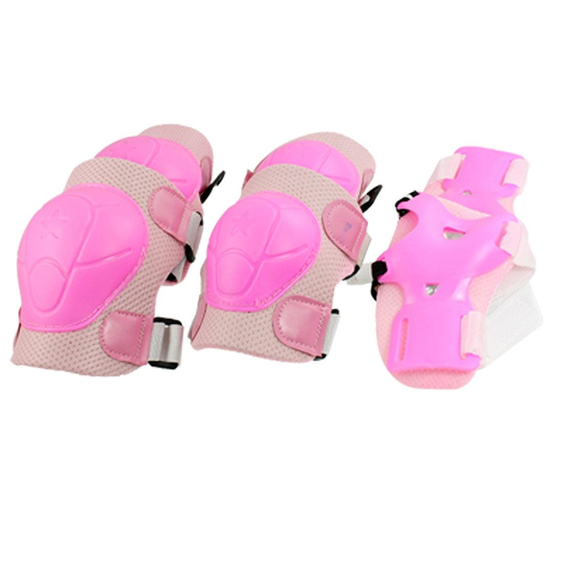 Unique Bargains Skateboard Skating Safety Gear Set Wrist Guard Elbow Pads Knee Pads for Girls Kids by Unique-Bargains