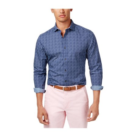 447b62db Tommy Hilfiger Mens Custom Geometric Button Up Shirt 409 S - image 1 of 1  ...