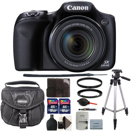 Canon PowerShot SX530 HS 16MP Wi-Fi Digital Camera with 32GB Accessory Kit