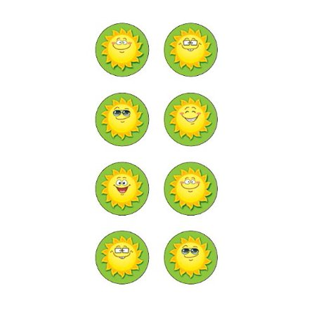 - Happy Suns Mini Stickers (5473), 378 stickers per pack By Teacher Created Resources From USA