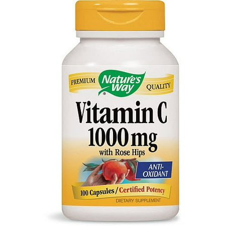 Natures Aid Rose (Nature's Way Vitamin C 1000 mg - with Rose Hips 100 Capsules )
