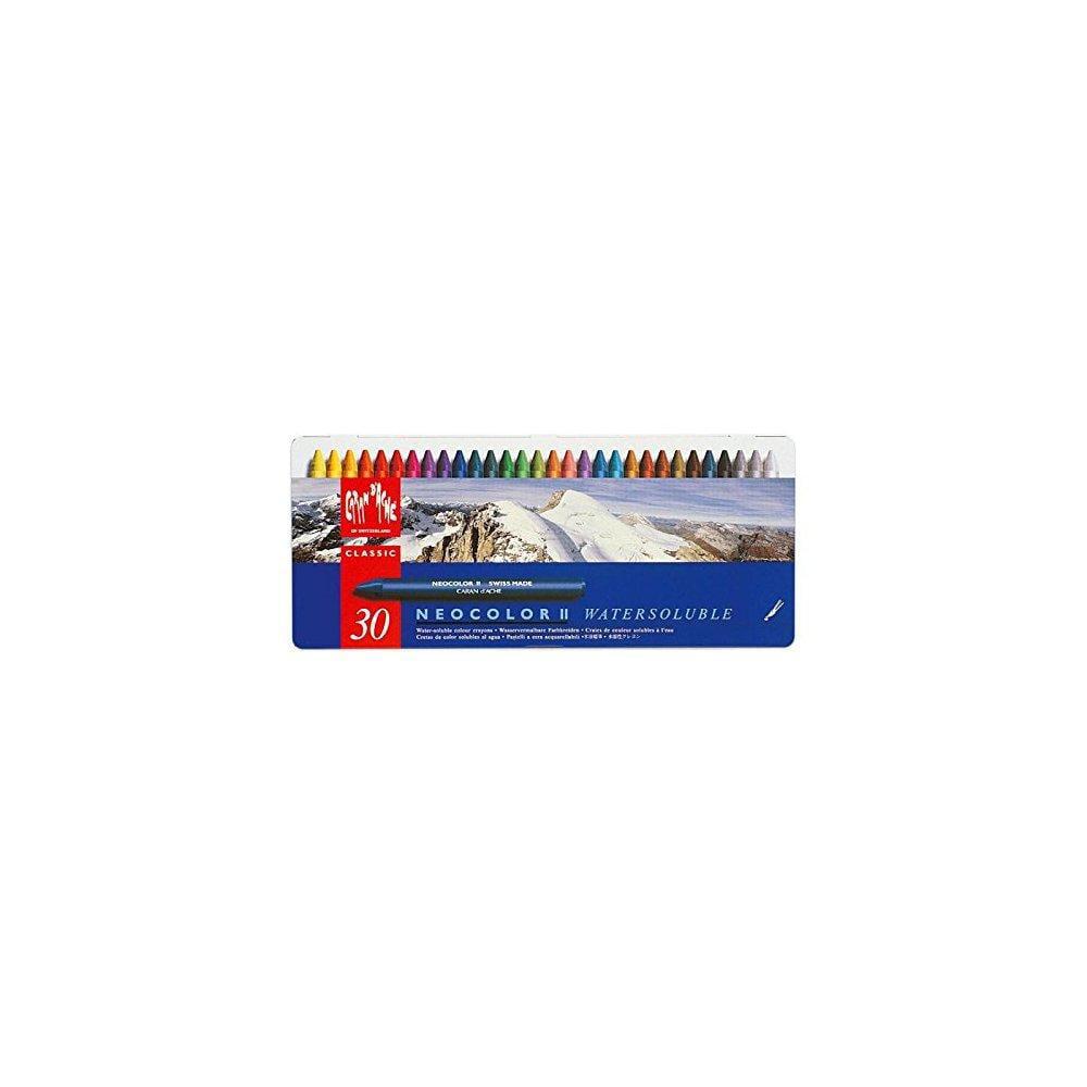 Caran d'ache classic neocolor ii water-soluble pastels, 3...