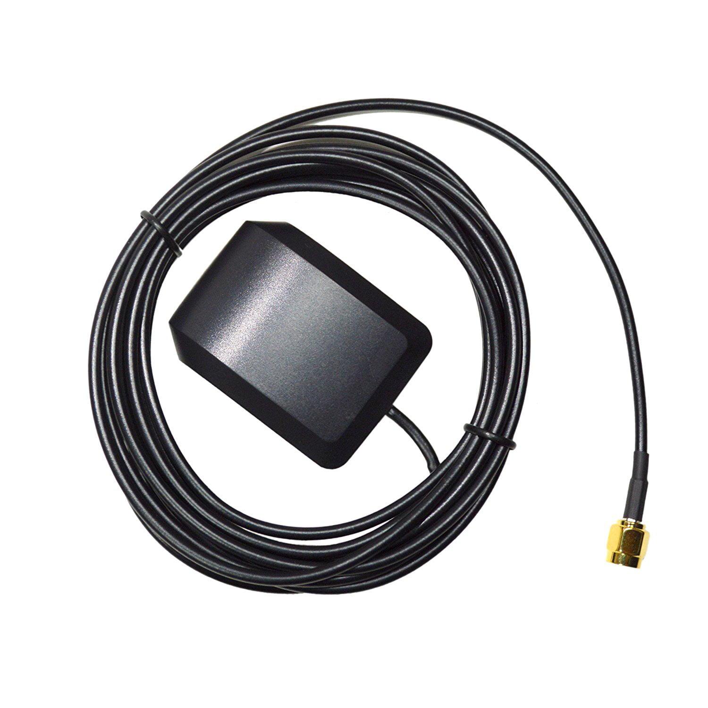 HQRP Amplified External SMA GPS Antenna for Navman: Tracker 5110, Tracker 5380, Tracker 5430, TRACKER 5500, Tracker 5505, Tracker 5600, Tracker 5605 Antenna Replacement + HQRP UV Meter