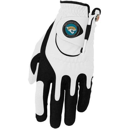 Jacksonville Jaguars Left Hand Golf Glove & Ball Marker Set - White - OSFM