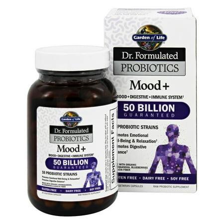 Garden of Life - Dr. Formulé Probiotiques Mood + 50 milliards - 60 capsules végétariennes