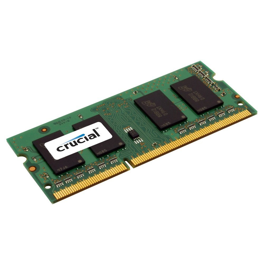 4GB Single 1600MHz (PC3-12800) CL11 204-Pin SODIMM DDR3L-SDRAM Memory (CT51264BF160BJ), 288Pin CT51264BD160BJ DDR31600MHz Memory.., By Crucial