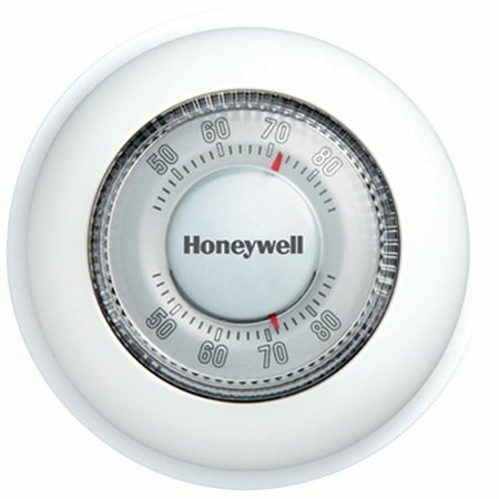 Honeywell The Round Non-Programmable Manual Thermostat, Heat Only (Carrier Programmable Thermostat With Humidity Control Manual)