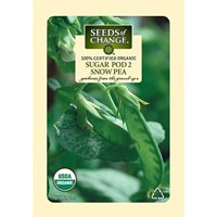 Seeds of Change Certified Organic Pea, Sugar Pod 2 - 12 grams, 50 Seeds Pack