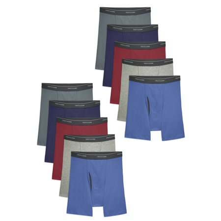 Fruit of the Loom Men's 5+5 Bonus Pack CoolZone Fly Dual Defense Assorted Boxer Briefs