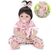 "Zimtown 22"" Lifelike Reborn Baby Doll Handmade Silicone Full Body Vinyl Newborn Dolls"