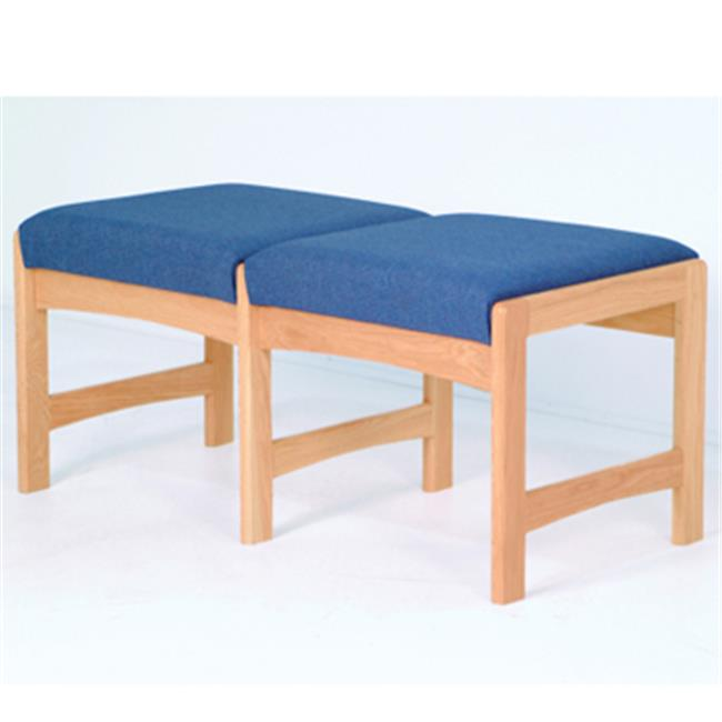 Wooden Mallet DW5-2MHPB Two Seat Bench in Mahogany - Powder Blue