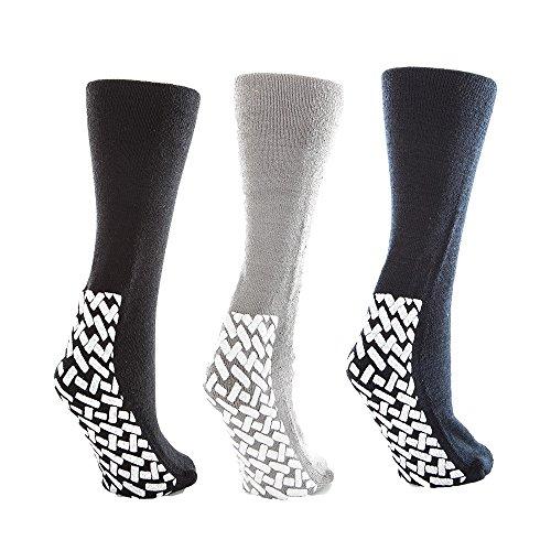 Noble Health Care Non Skid Hospital Slipper Socks (10-13 ...