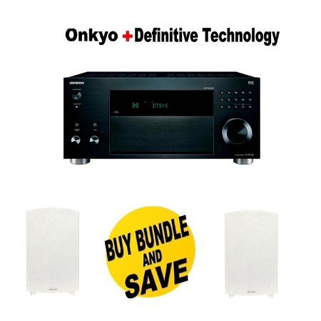Onkyo TX RZ1100 92 Channel A V Receiver Pair Of Definitive Technology