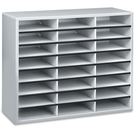 Fellowes, FEL25041, Literature Organizer - 24 Compartment Sorter, Dove Gray, 1 Each, Dove Gray