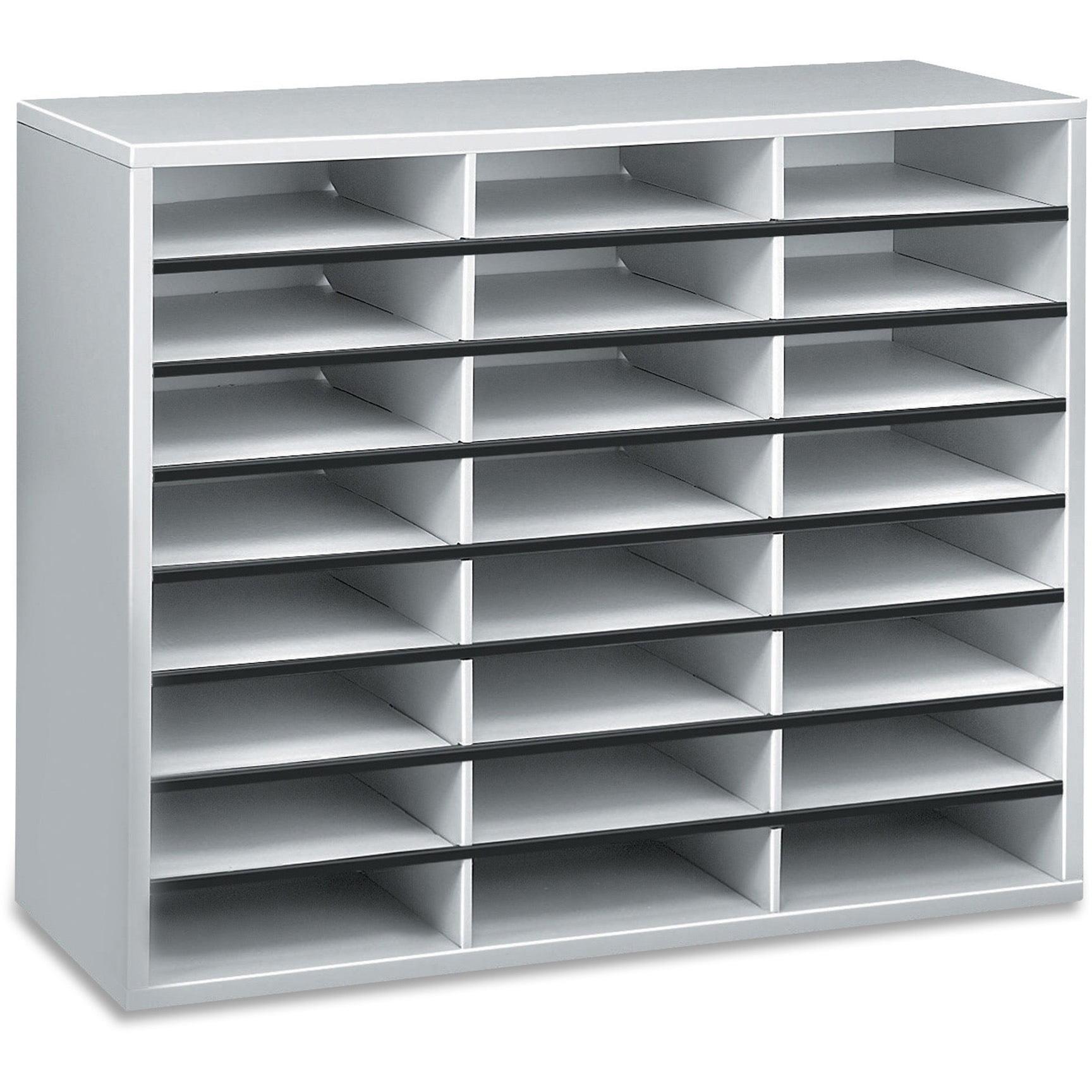 Fellowes, FEL25041, Literature Organizer - 24 Compartment Sorter, Dove Gray, 1 Each, Dove Gray