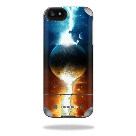 Mightyskins Protective Vinyl Skin Decal Cover for Mophie Juice Pack Helium iPhone SE/5s/5 External Battery Case wrap sticker skins Sci Fi