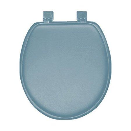 Blue Soft Padded Cushion Toilet Seat Round Standard
