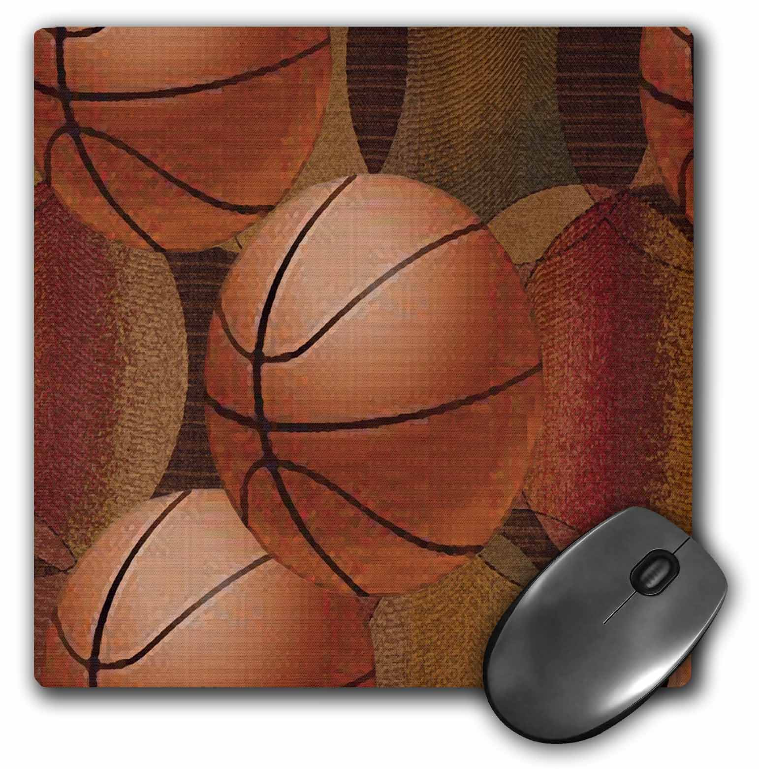 3dRose Basketballs, Mouse Pad, 8 by 8 inches by 3dRose