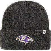 Baltimore Ravens '47 Team Color Brain Freeze Cuffed Knit Hat - Black - OSFA