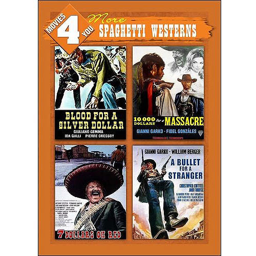 Movies 4 You: More Spaghetti Westerns - Blood For A Silver Dollar / 10,000 Dollars For A Massacre / Seven Dollars On The Red / A Bullet For A Stranger (Widescreen)
