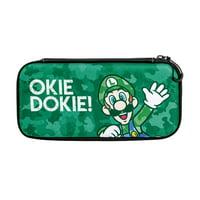 PDP Nintendo Switch Camo Slim Travel Case Super Mario Bros Luigi Edition, 500-105